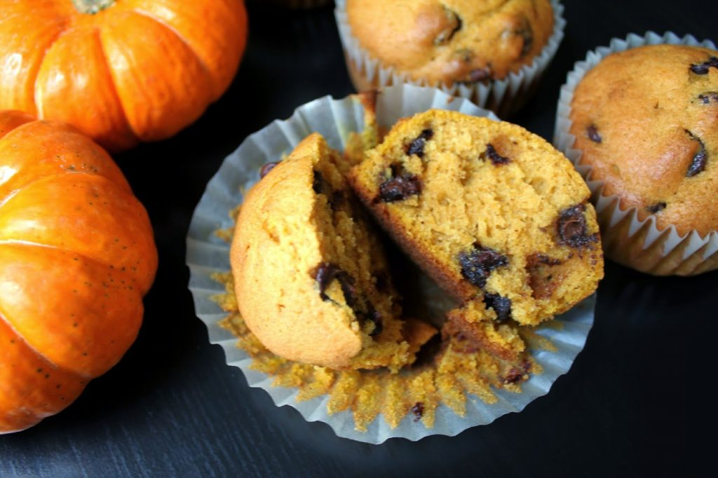 Pumpkin Chocolate Chip Muffins!