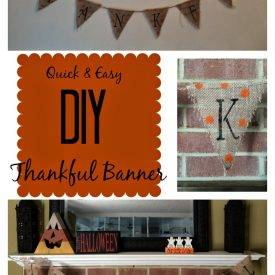 DIY Thankful Banner