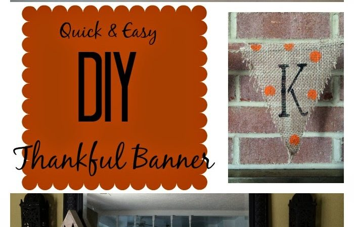 DIY Thankful Banner