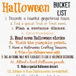 Halloween Bucket List (Free Printable)