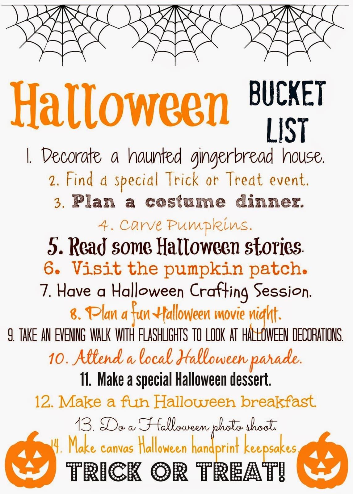 Halloween Bucket List Free Printable The Chirping Moms