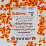 Halloween Bucket List (Free Printable)