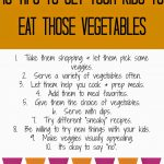 Simple Tips to Get Kids To Eat Their Vegetables