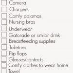 Hospital Bag Checklist With Free Printable