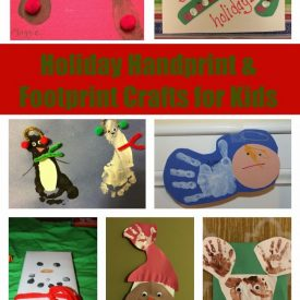 Holiday Handprint & Footprint Crafts