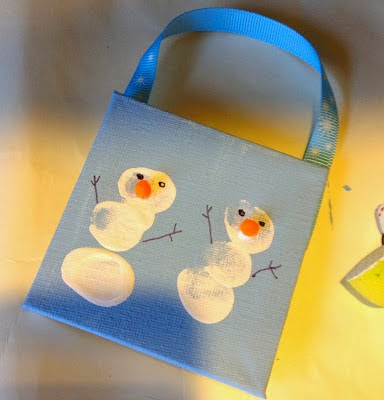 Holiday Handprint & Footprint Crafts : The Chirping Moms