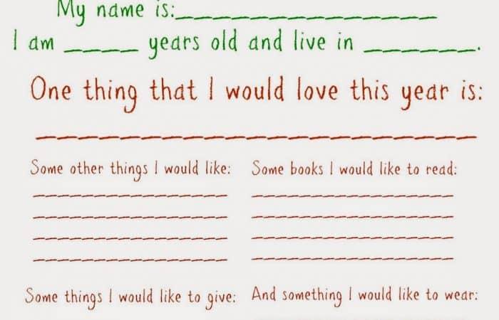 Dear Santa Letter (Free Printable)