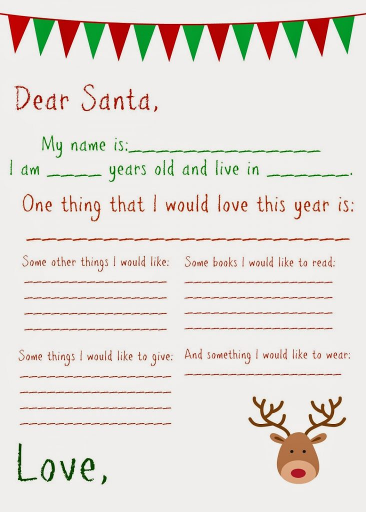 Dear Santa Letter (Free Printable) : The Chirping Moms