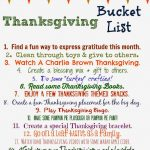 Thanksgiving Bucket List (Free Printable)
