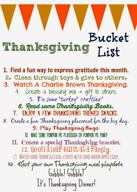 Thanksgiving bucket list free printable the chirping moms