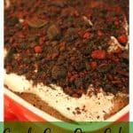 Candy Cane Oreo Cake