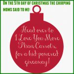 The 12 Days of Toys: Day 5, Kid-Powered Fun Hosted By I Love You More Than Carrots