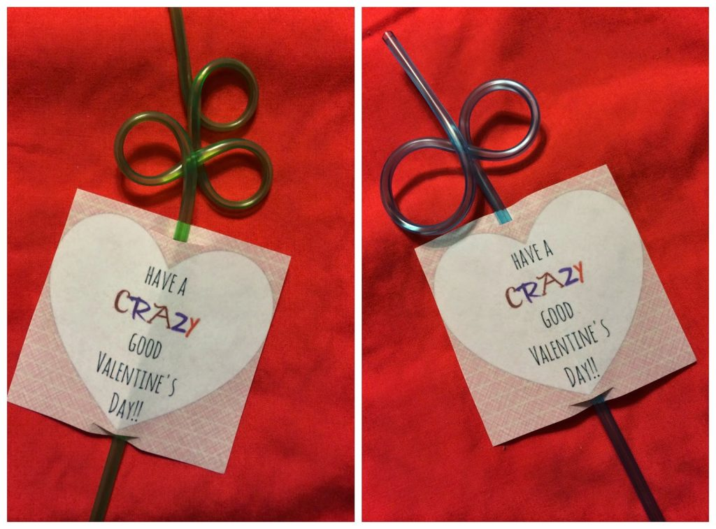easy valentines day straw favors printable the chirping moms - Kindergarten Valentine Ideas