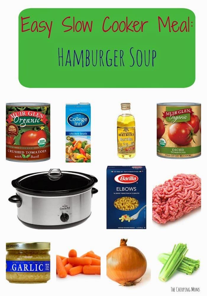 Crock Pot Hamburger Soup || The Chirping Moms
