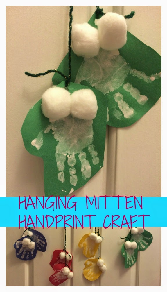 Hanging Mitten Handprint Craft || The Chirping Moms