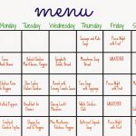 31 Days of Dinners:  A Menu Plan for the Whole Month