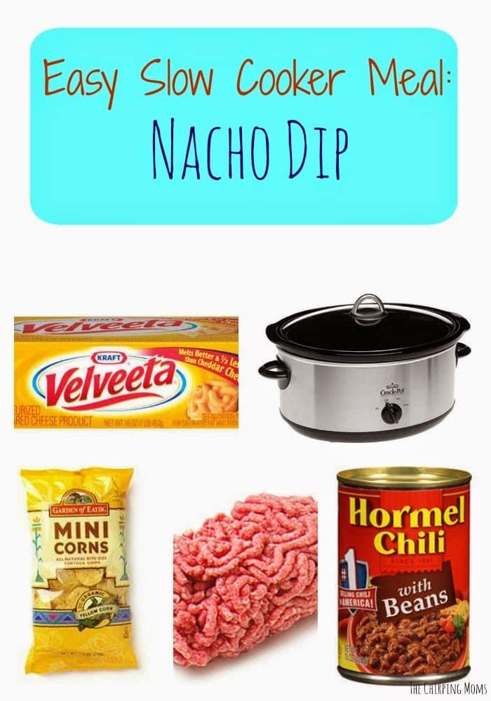 Crock Pot Nacho Dip || The Chirping Moms