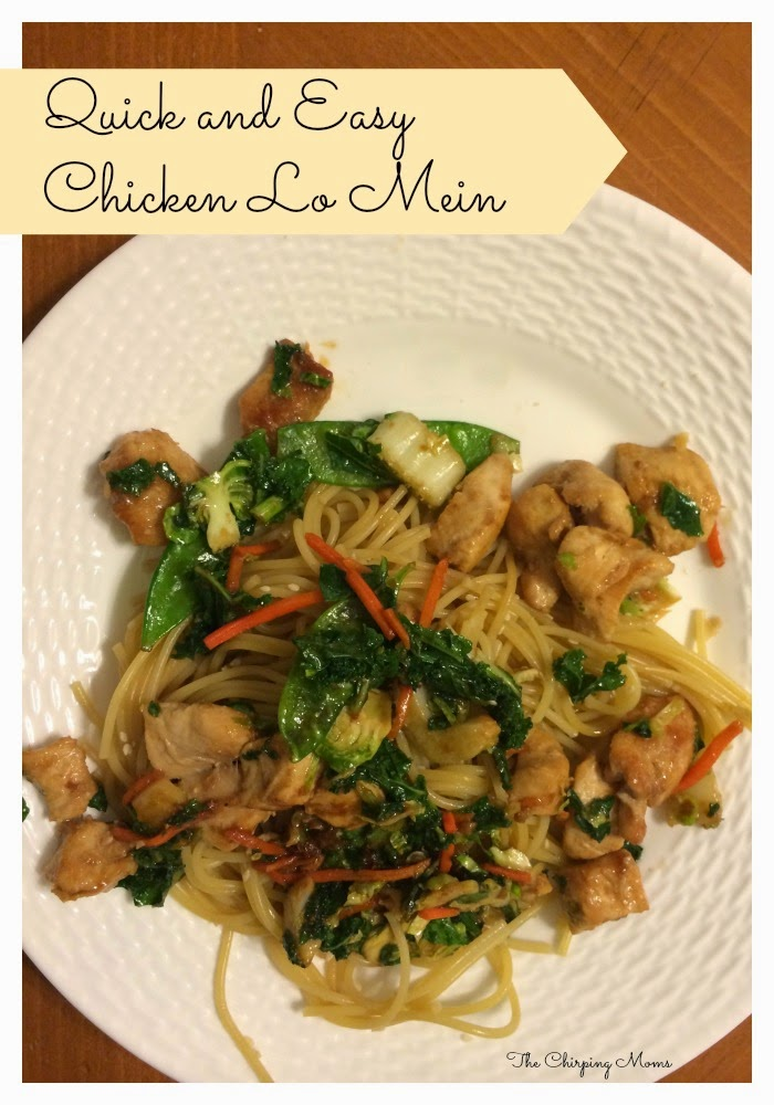 Quick and Easy Chicken Lo Mein Recipe ||The Chirping Moms