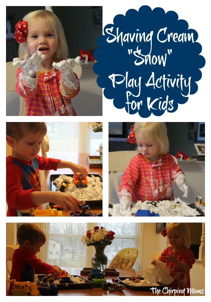 Shaving Cream Snow Play || The Chirping Moms