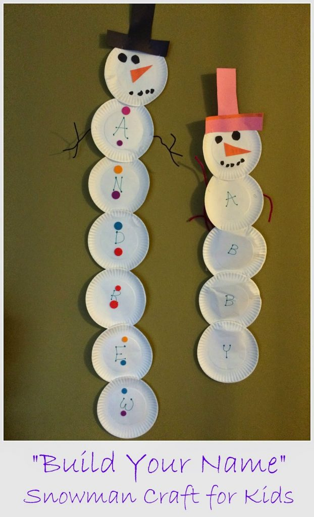 Build A Name Snowman || The Chirping Moms