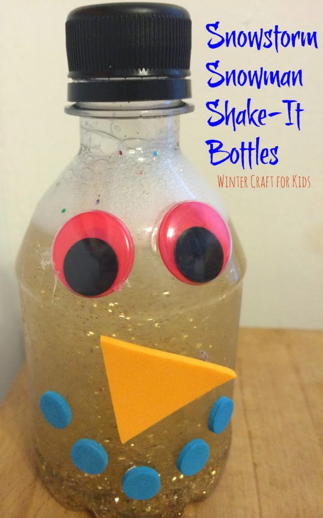 Snowstorm Snowman Shake It Bottles || The Chirping Moms