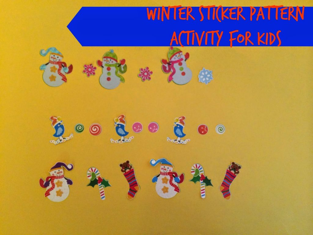 Winter Sticker Patterns || The Chirping Moms