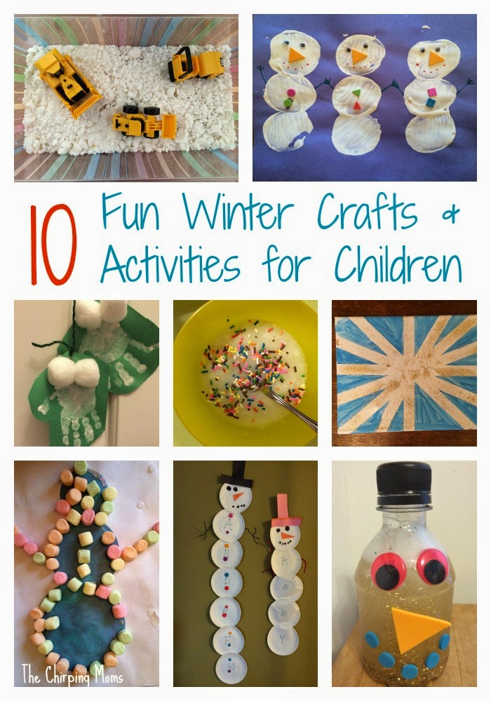Beautiful Easy Winter Craft Ideas For Kids Part - 7: 10 Super Fun Winter Crafts U0026 Activities For Children || The Chirping Moms