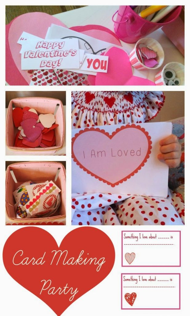 Valentines Day Card Making Party With Printables The Chirping – Making Valentines Card