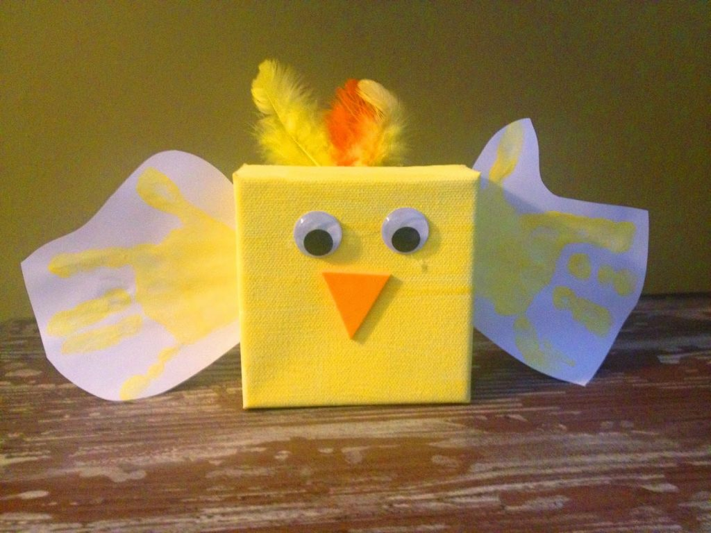 Canvas Easter Chick || The Chirping Moms