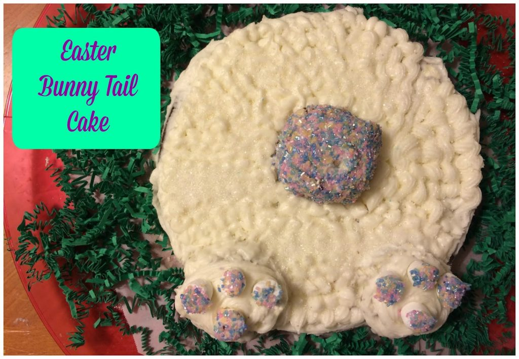 Easter Bunny Tail Cake || The Chirping Moms