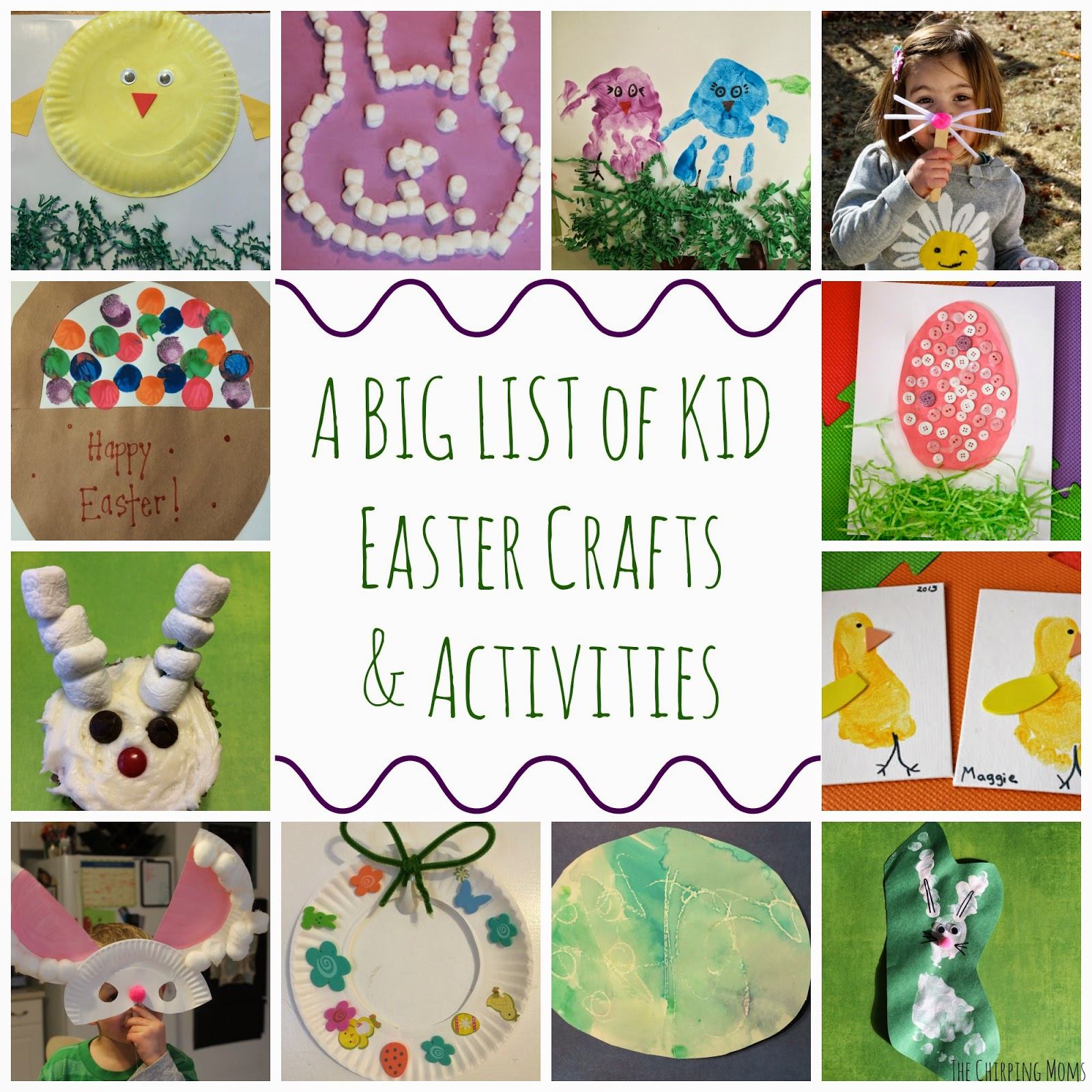 A giant list of easter crafts activities for kids the for What day does easter fall on this year