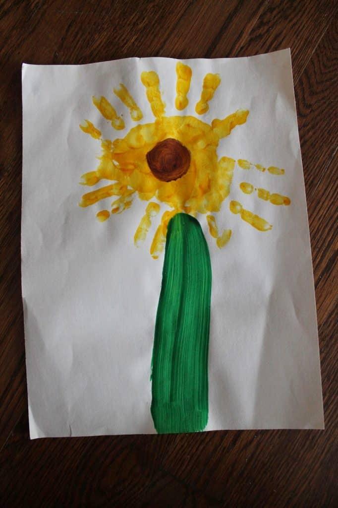 Spring Handprint Craft    The Chirping Moms