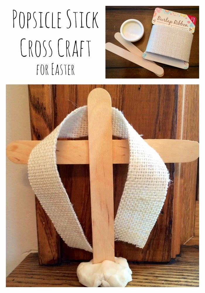 Popsicle Stick Easter Cross || The Chirping Moms