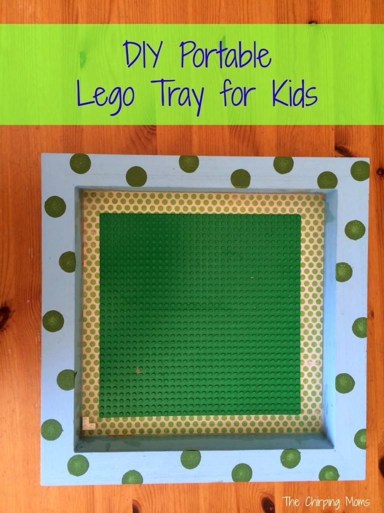 DIY Portable Lego Tray || The Chirping Moms