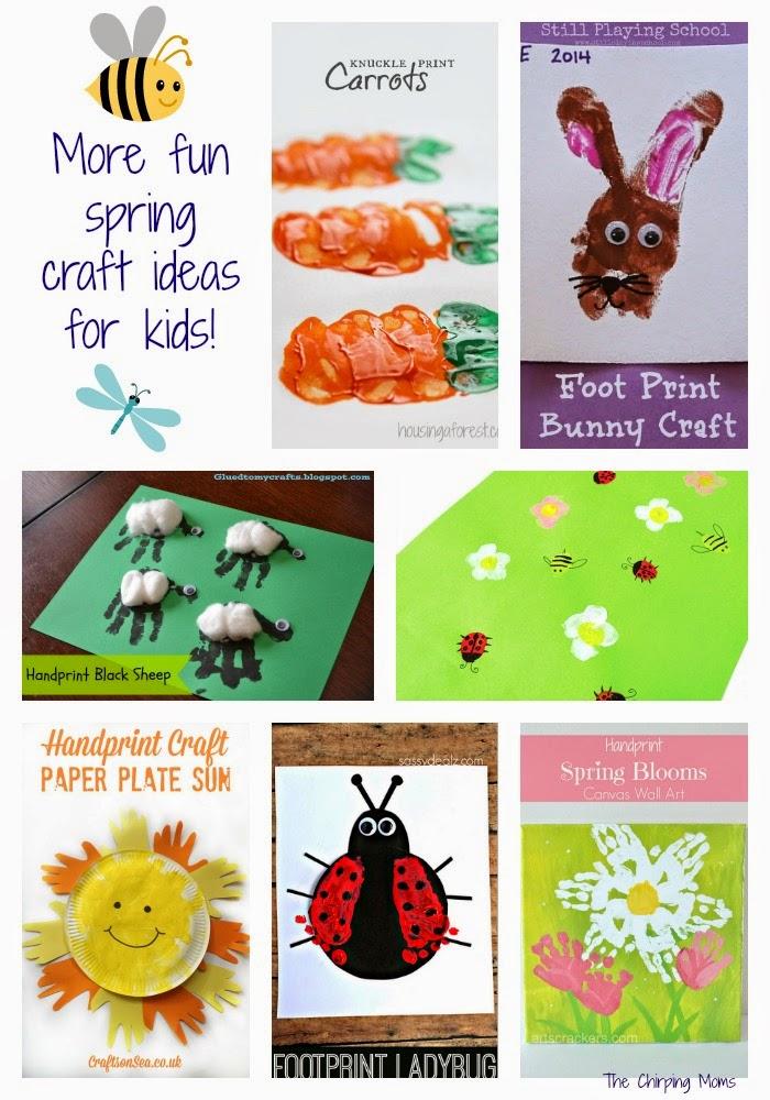 Spring Handprint & Footprint Craft Ideas || The Chirping Moms