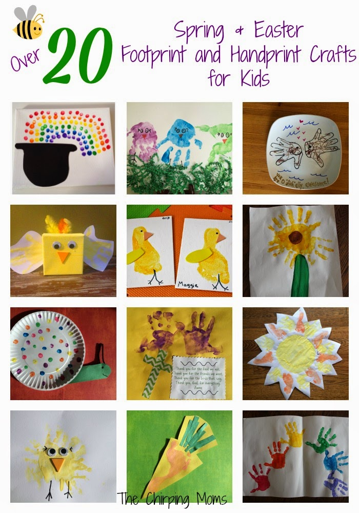 Spring Easter Handprint And Footprint Crafts For Kids