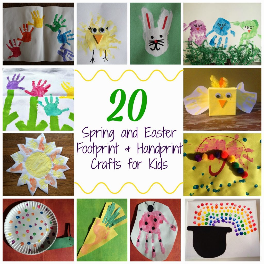 Spring & Easter Handprint and Footprint Crafts for Kids || The Chirping Moms