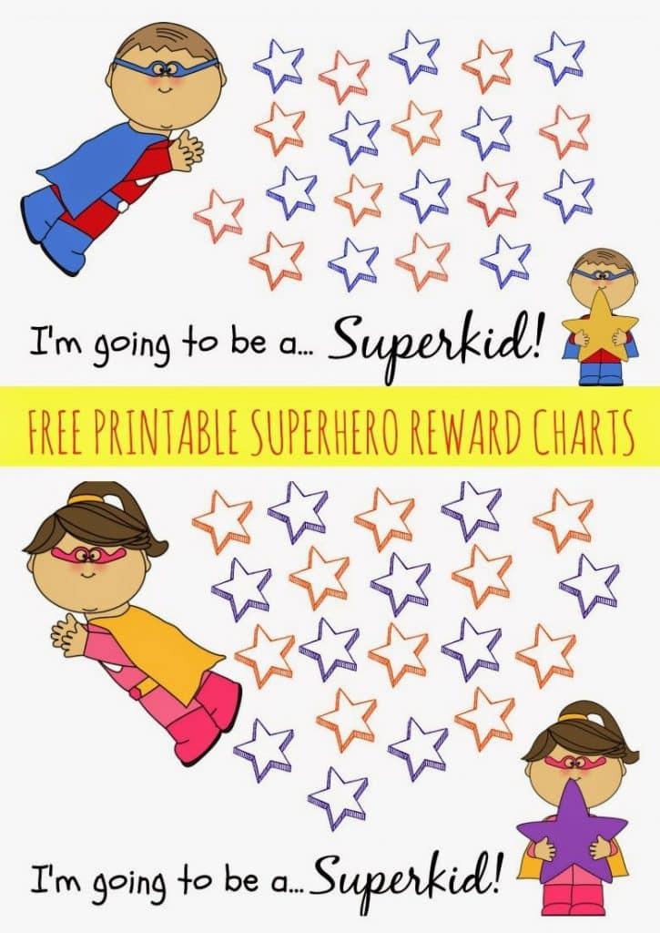 Free Printable Superhero Reward Chart The Chirping Moms – Printable Rewards Charts