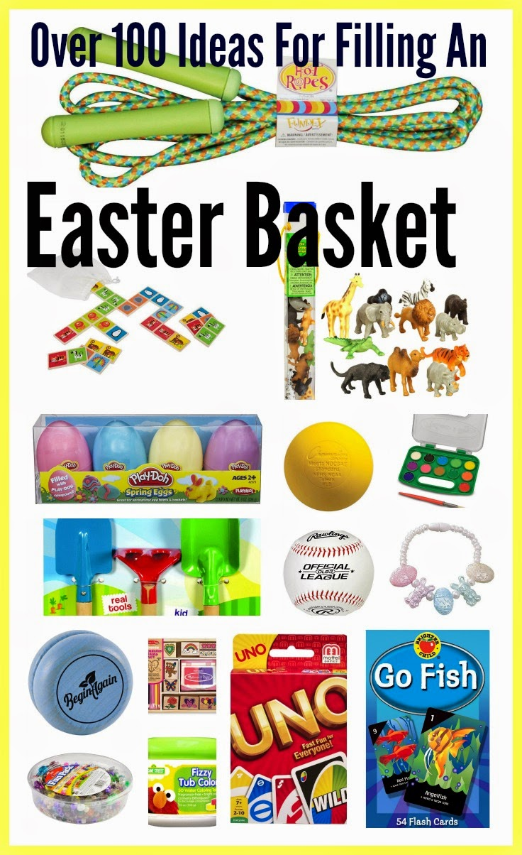 Over 100 ideas for filling an easter basket the chirping moms negle Image collections