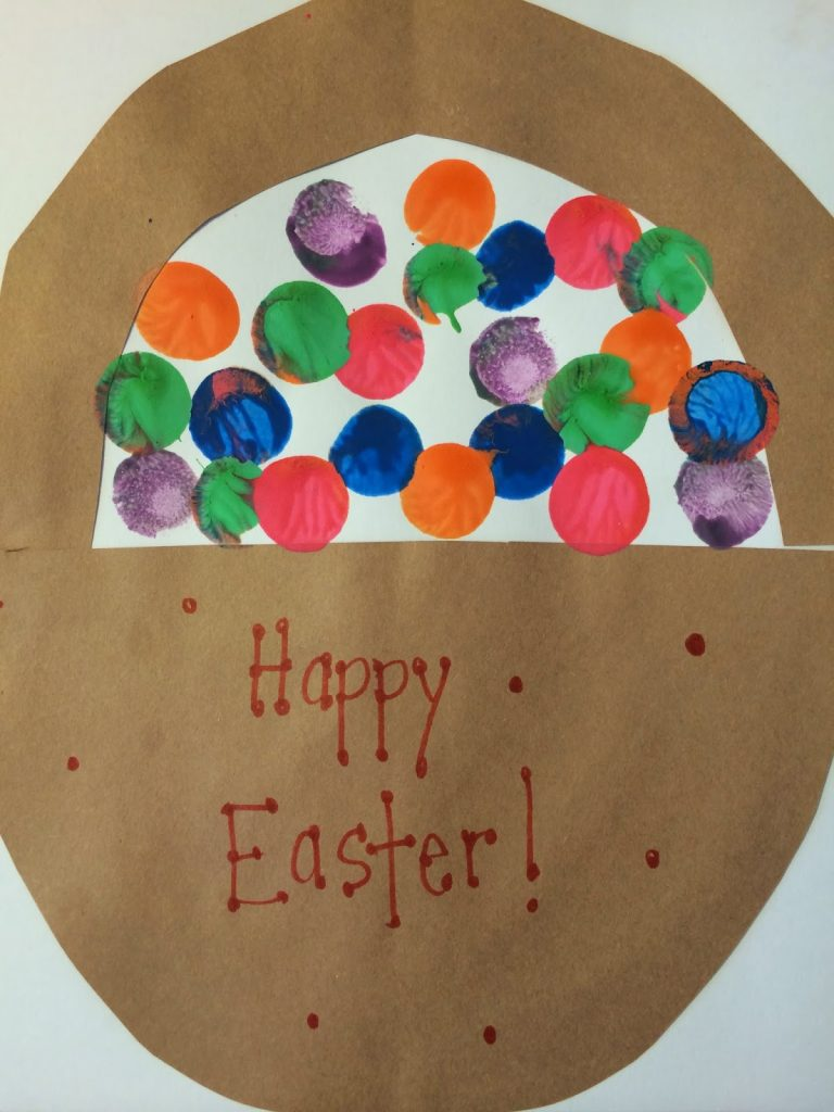Painted Egg Easter Basket    The Chirping Moms