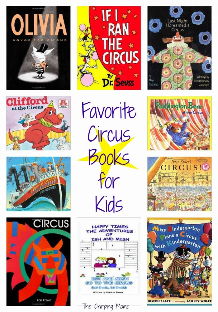 Circus fun for kids the chirping moms for Children s craft books