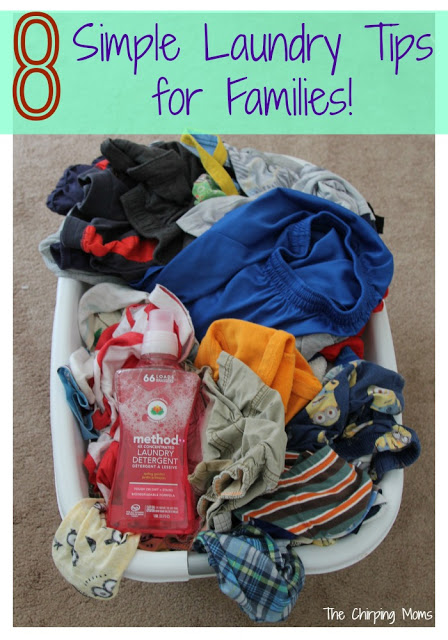 8 Tips for Managing Laundry || The Chirping Moms