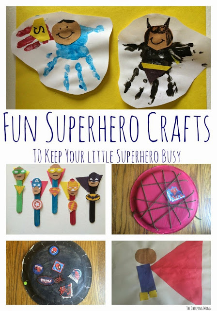 5 Superhero Crafts for Kids || The Chirping Moms