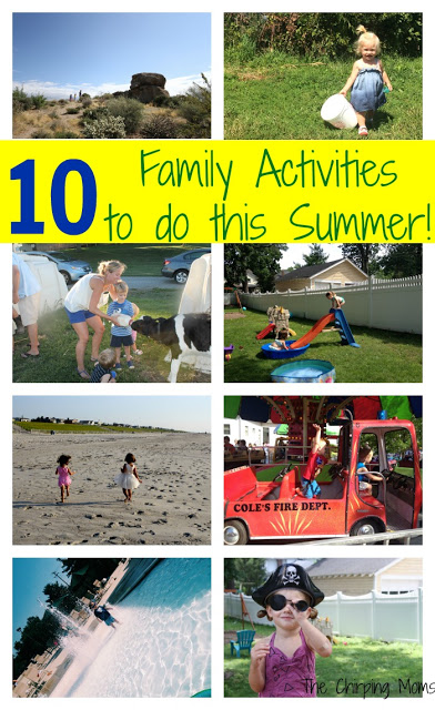 10 Outdoor Summer Activities for Families || The Chirping Moms