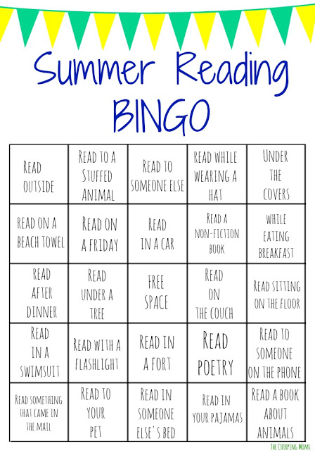Summer Reading Bingo Challenge for Kids || The Chirping Moms