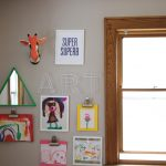 A Creative Way to Display Children's  Artwork