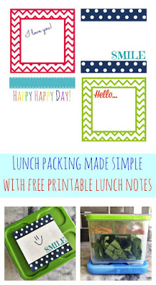 Free Printable Lunch Notes || The Chirping Moms