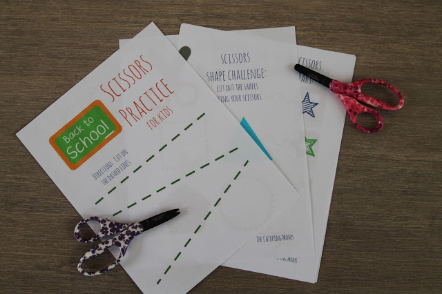 Simple Scissors Practice for Preschoolers