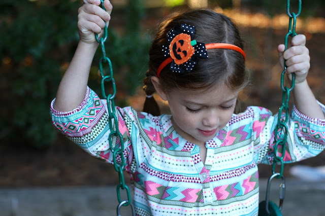 Fall Play Clothes for Girls With Easy DIY Headbands & Bows
