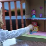 How To Make A Simple Dollhouse From A Cardboard Box & Fun with Little Charmers